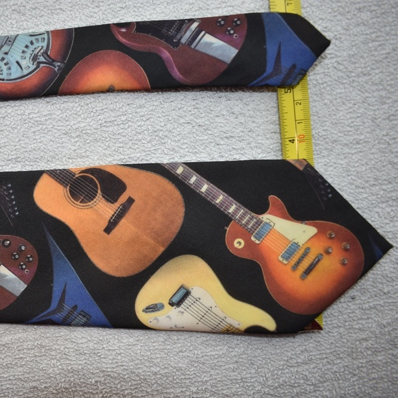 7cc3021de4ba Ralph Marlin Accessories | Guitar Music Instrument Mens Neck Tie ...